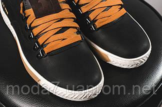 Кеды мужские Twics Polo черные (натуральная кожа, весна/осень), фото 2