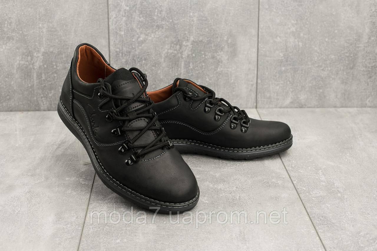 Повседневная обувь мужские Yuves 650 черные-матовые (натуральная кожа, весна/осень)