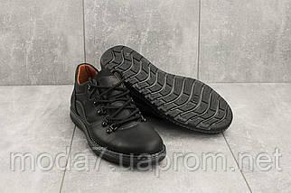 Повседневная обувь мужские Yuves 650 черные-матовые (натуральная кожа, весна/осень), фото 3