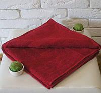 Полотенце махровое с бордюром 70х140 красное 400 г/м²