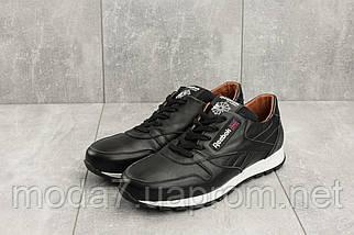 Кроссовки мужские Yuves R 250 черные (натуральная кожа, весна/осень), фото 2