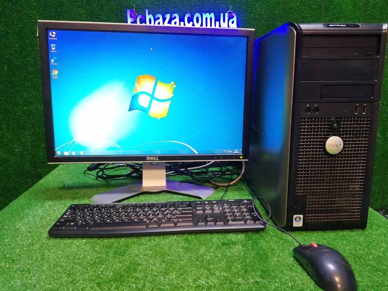 """Полный комплект DELL Optiplex Intel 4 ядра + Монитор 22"""" Dell 2208wfpt+ мышь и клавиатура"""
