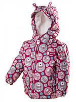 """Термокуртка зимняя PIDILIDI """"Мишки"""" для девочки. Размеры: 80, 86, 92, 98"""