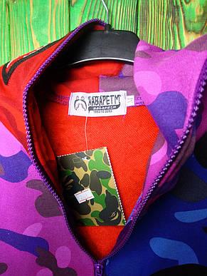 Мужская кофта - Худи в стиле Bape Shark (Разноцветный), фото 2