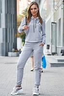 Стильный женский спортивный костюм с капюшоном серого цвета ( р. M, L, XL, 2XL)