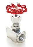 Вентиль игольчатый нержавеющий муфтовый G½'' AISI 316 Ду15 Ру140, фото 2