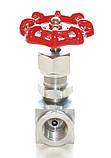 Вентиль игольчатый нержавеющий муфтовый G½'' AISI 316 Ду15 Ру140, фото 5