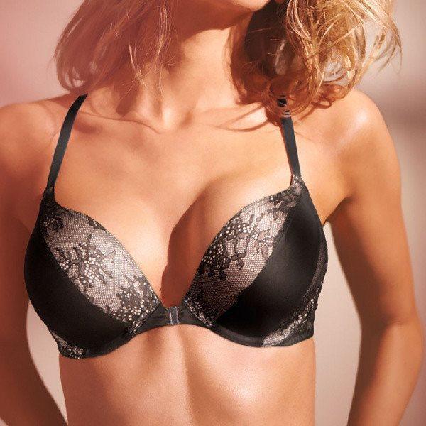 Бюстгальтер Двойной Пуш-Ап Victoria's Secret Bombshell Add-2-Cups 36А (80A), Черный