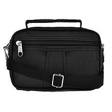 Мужская сумка-барсетка Wallaby ткань чёрный кринкл  18х13х8,5   в 2663ч, фото 3