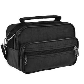 Мужская сумка-барсетка Wallaby ткань чёрный кринкл  18х13х8,5   в 2663ч, фото 2