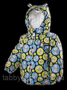 """Термокуртка зимняя PIDILIDI """"Мишки"""" для мальчиков. Размеры: 80, 86, 92, 98"""
