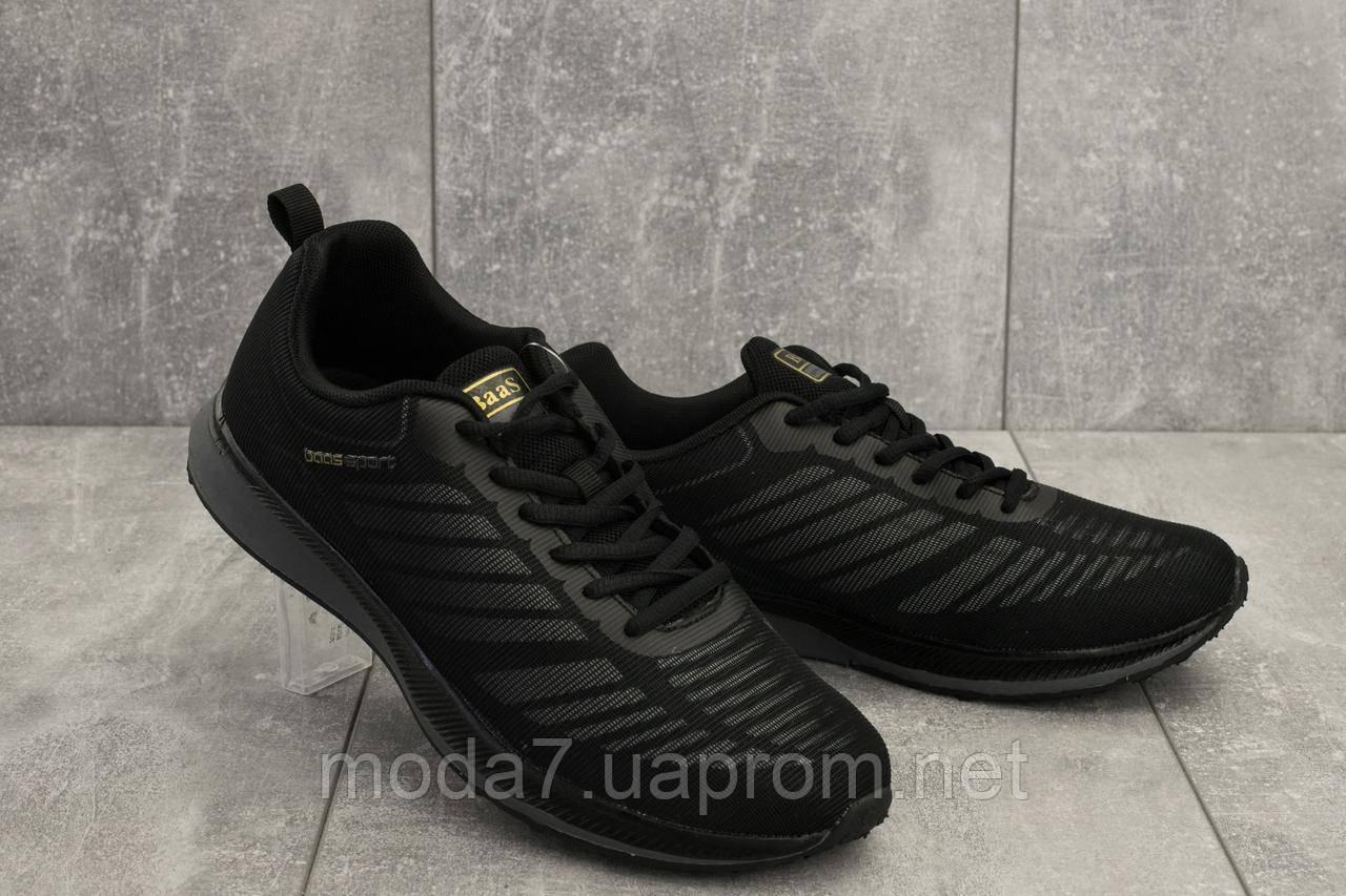 Кроссовки мужские M 712 -1 (Baas Sport) черный (текстиль, весна/осень)