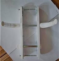 Ручка дверная алюминиевая OPERA (нажимной гарнитур для санузла) 25-90 (200мм) WC белая для ПВХ дверей