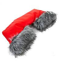 Перчатки (муфты)  на коляску универсальные кожанные