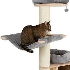 Игровой комплекс для котов с когтеточкой и домиком Eco Premium XL серый, когтеточка и домик для кота, фото 3