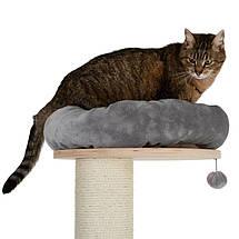 Игровой комплекс для котов с когтеточкой и домиком Eco Premium XL серый, когтеточка и домик для кота, фото 2