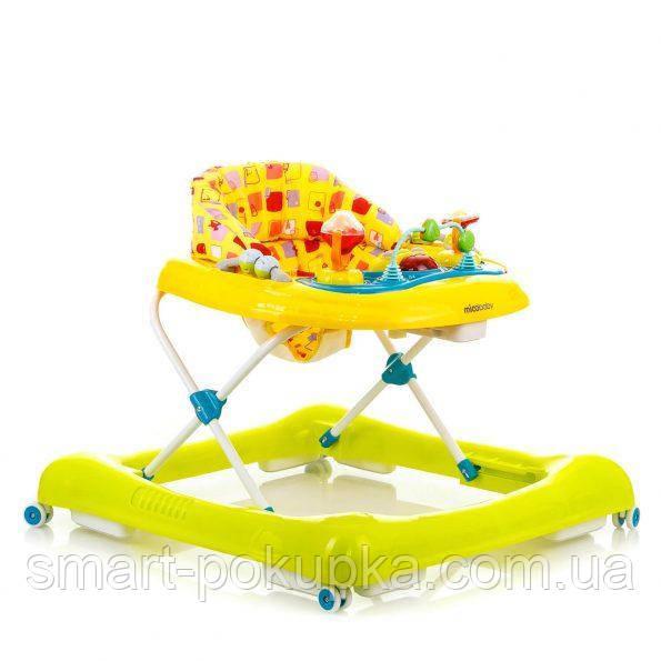 Ходунки Mioobaby Baby Walkers XA10 yellow/green