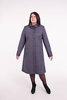 Пальто женское -Л-594 серое