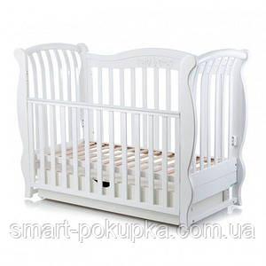"""Дитяча кроватка (ліжечко) бук Mioobaby """"Sinfonia"""" White"""