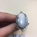 Кільце дендритовый опал розмір 18 кільце з дендро-опалом в сріблі Індія, фото 6