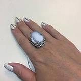 Кільце дендритовый опал розмір 18 кільце з дендро-опалом в сріблі Індія, фото 3