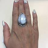 Кільце дендритовый опал розмір 18 кільце з дендро-опалом в сріблі Індія, фото 4