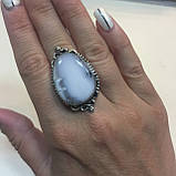 Кільце дендритовый опал розмір 18 кільце з дендро-опалом в сріблі Індія, фото 2