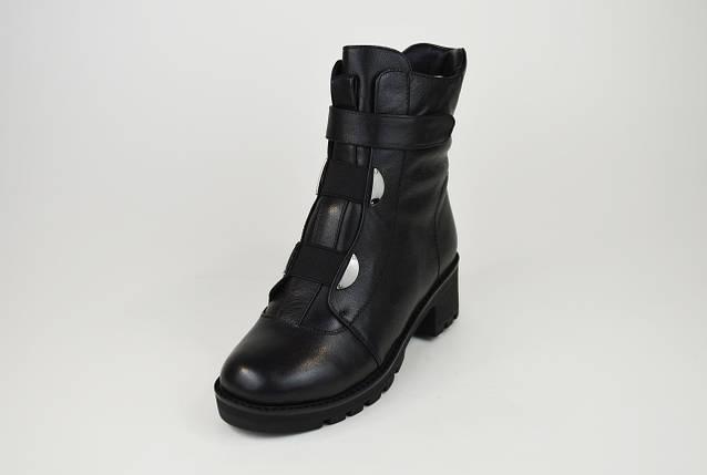 Ботинки зимние на каблуке кожаные 34,35 размеров Erises 808201, фото 2