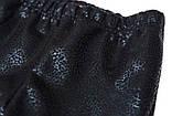 Лосины утепленные р.140 SmileTime с кожаным принтом Black Leopard, черный, фото 5