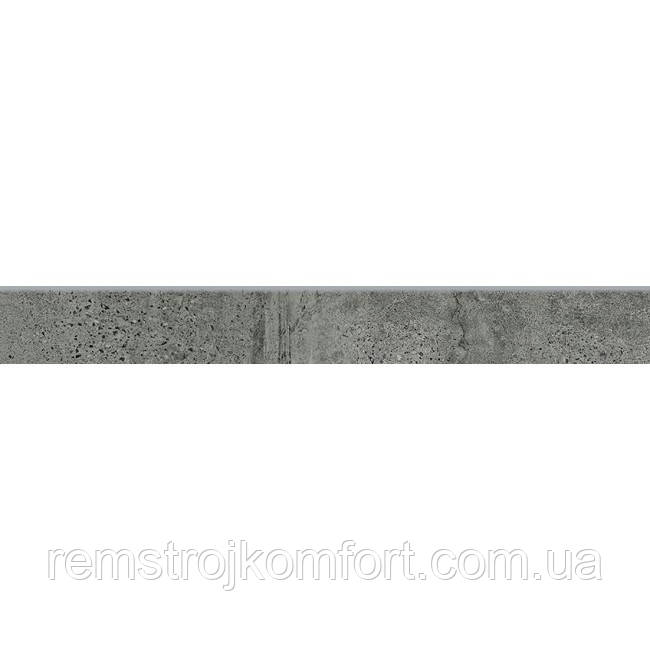 Бордюр (Плинтус) Opoczno Newstone graphite (SKIRTING) 7,2х59,8