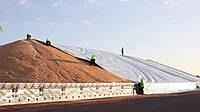 Накрытие ( накриття ) для зерна, соломы и сена тентами большой площади