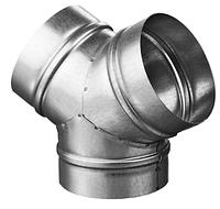 Тройник 120* d 100 мм из оцинкованной стали