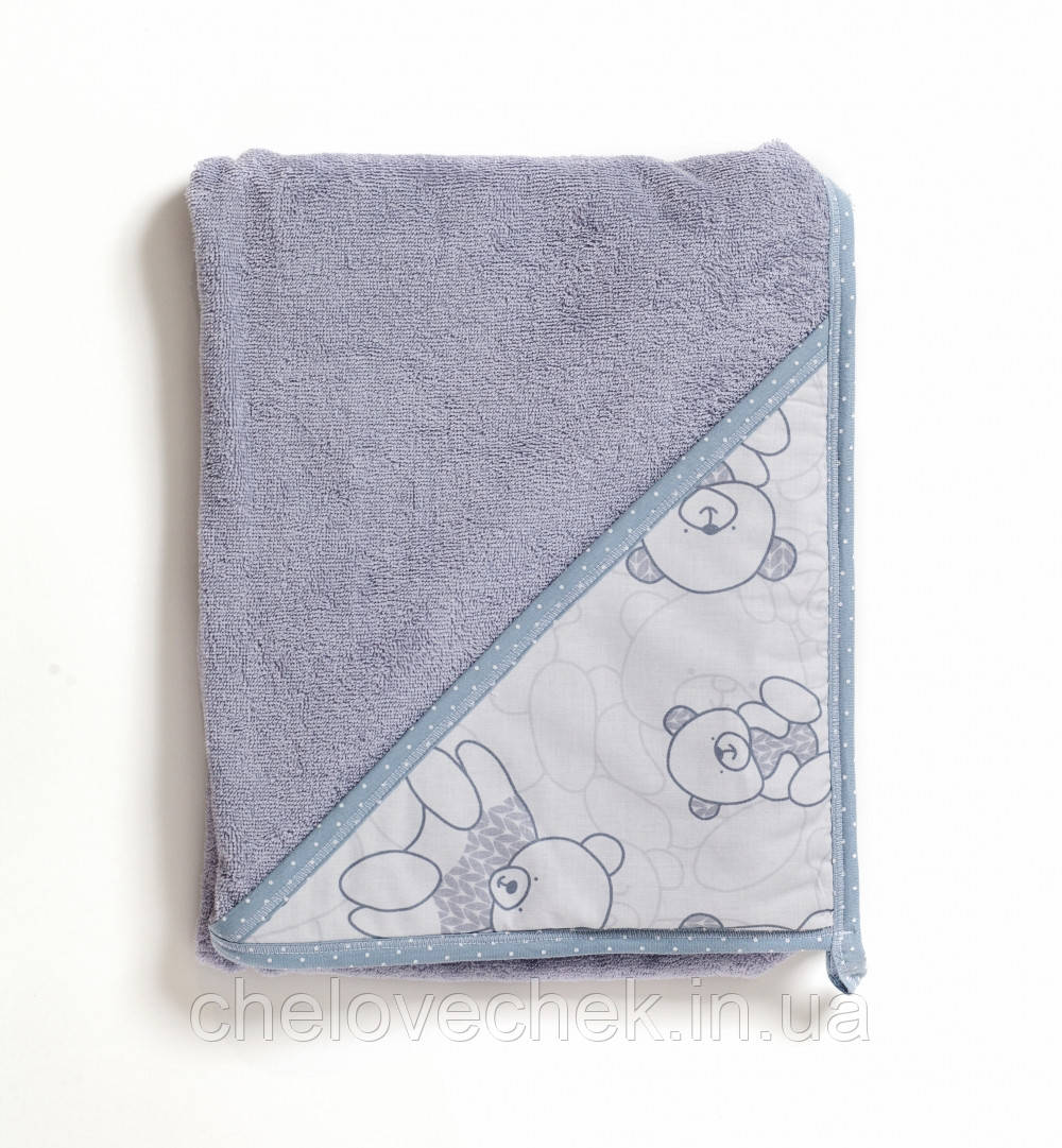 Полотенце махра Twins Aqua 100*100 см grey