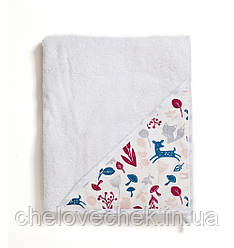 Полотенце махра Twins Aqua 100*100 см white