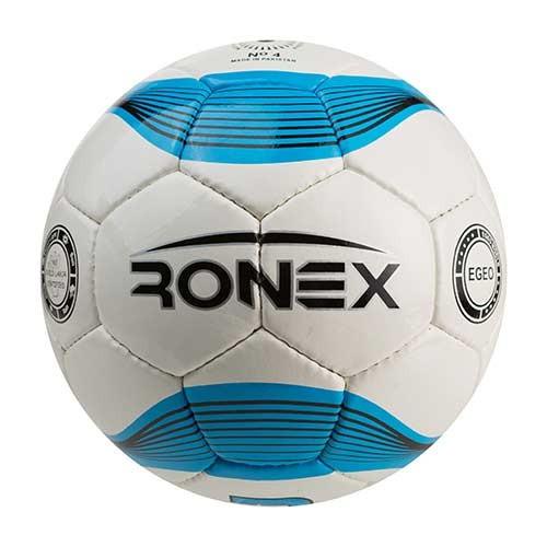 Мяч футбольный №4 Ronex (JM) бело-голубой RXD-JM1
