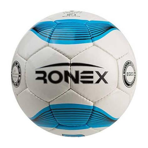 Мяч футбольный №4 Ronex (JM) бело-голубой RXD-JM1, фото 2