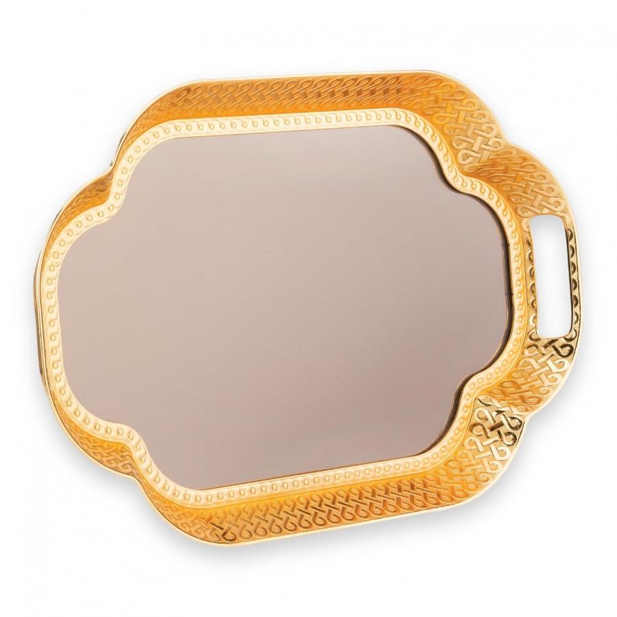 Поднос Sena овальный золотистый 40x27 см