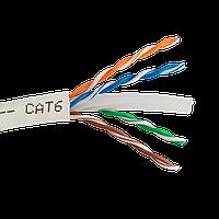 Кабель Витая Пара 4х2х0,56 (UTP-cat.6) 23 AWG 4 пары 8 Жил LAN cable solid Бухта 305 метров