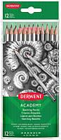 Набір чорнографітних олівців Derwent Sketching Academy, 12 шт. (6B-5H), (2300412)