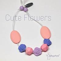 Силиконовые слингобусы Cute Flowers BABY MILK TEETH