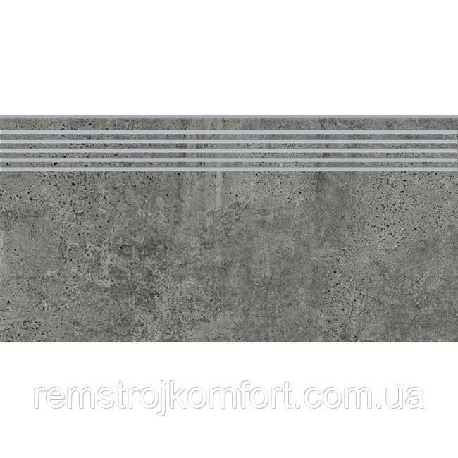 Ступень Opoczno Newstone graphite (STEPTREAD) 29,8х59,8