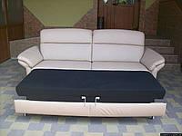 Шкіряний розкладний диван Polinova (5317). ДНІПРО