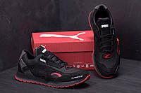 Мужские кожаные осенние кроссовки Puma Red Star реплика