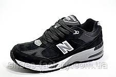 Мужские кроссовки в стиле New Balance 991 Classic, Black\White (Нубук), фото 2