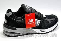 Мужские кроссовки в стиле New Balance 991 Classic, Black\White (Нубук), фото 3