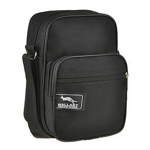 Мужская сумка-барсетка Wallaby 16х21х10 ткань оксфорд 600Д черный цвет   в 2661, фото 2