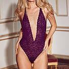Victoria's Secret Сексуальное Кружевное Боди Floral Lace Plunge Teddy р. М, Синий, фото 3