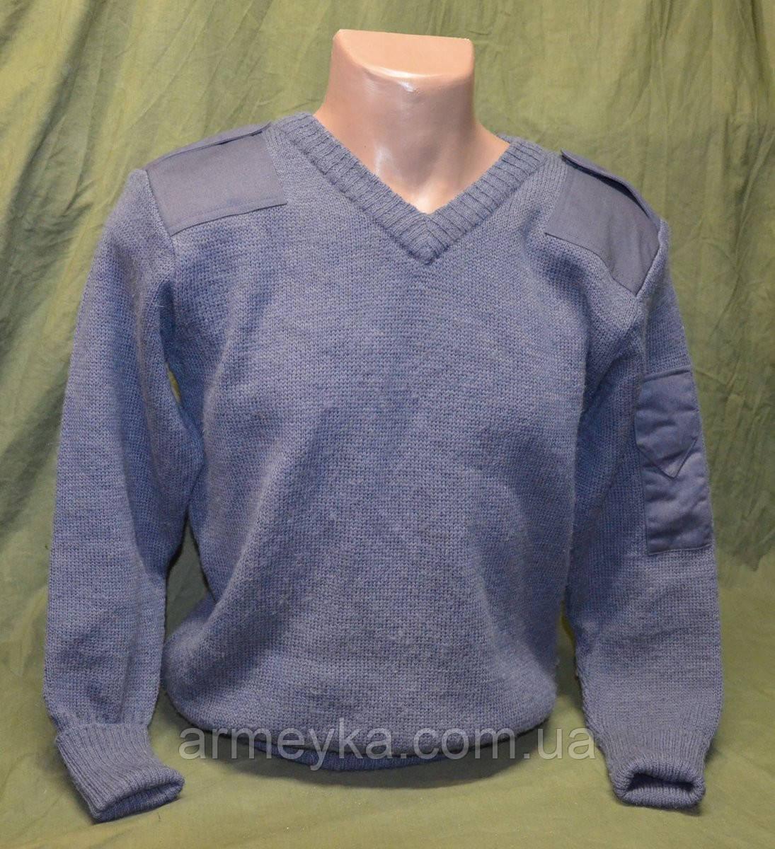 Шерстянные свитера V-ворот Британские ВС (серый), оригинал. Сорт-1