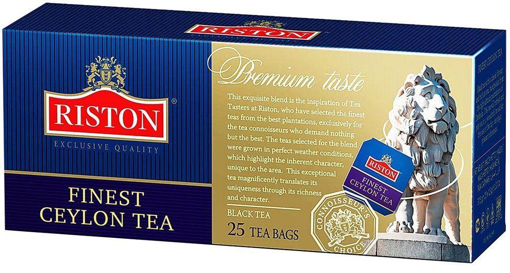 Чай черный Ристон Премиум Цейлон пакетированный 25 х 2 г