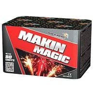Салют на 80 выстрелов 20 калибр 4 эффекта MAKIN MAGIC MC122  Фитиль